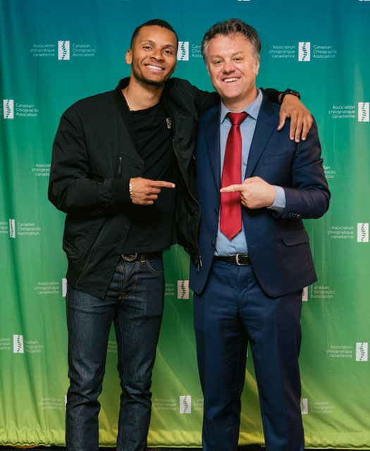 Dr. Alban Merepeza and Andre De Grasse